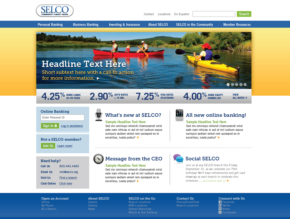 web design for SELCO