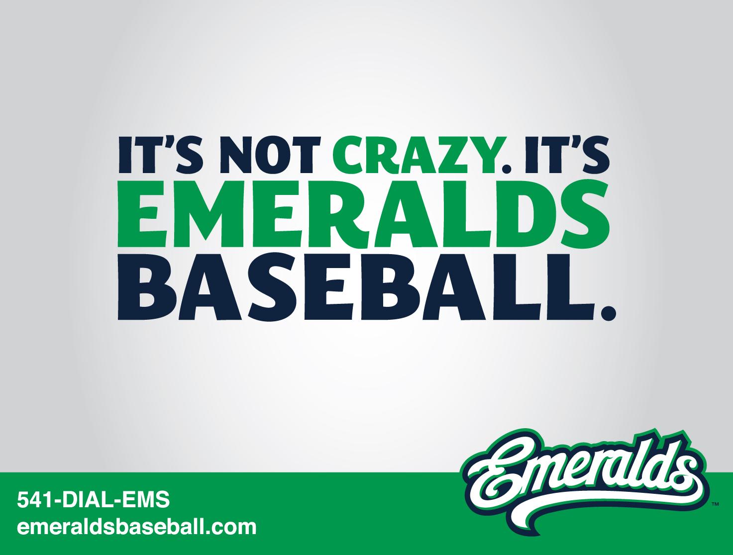 eugene emeralds ad