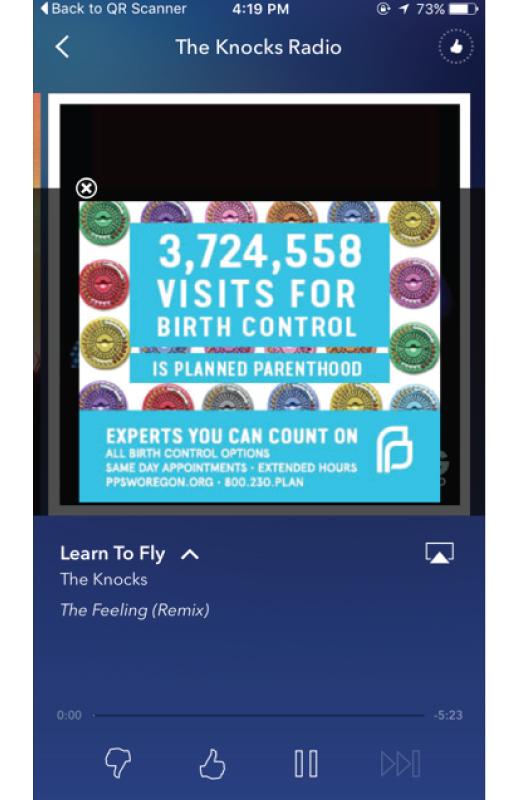 pandora ad campaign planned parenthood