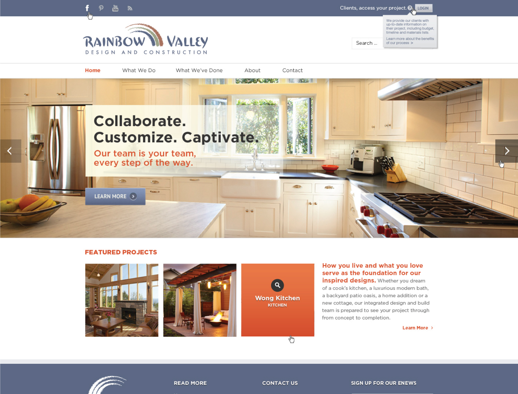 web design for rainbow valley