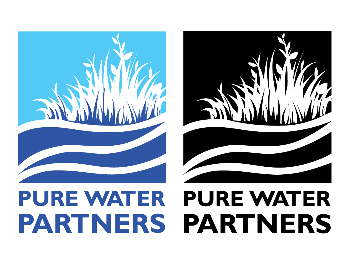 pure water partners logo design